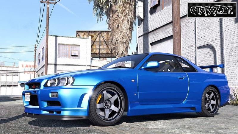دانلود ماشین Nissan Skyline GT-R 34 2002 برای Gta V